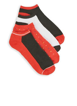 Set of 4 Ankle Socks - RED - 3143041451617