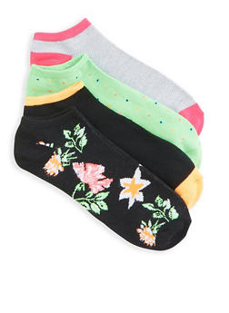4 Pack Assorted Ankle Socks - 3143041451918