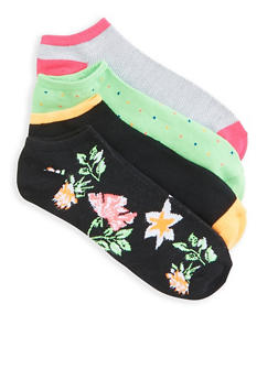 Set of 4 Assorted Ankle Socks - 3143041451919