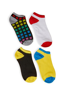 Assorted Ankle Socks 4 Pack - 3143041452018