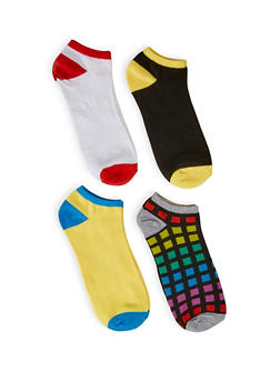 Plus Size 4 Pack Ankle Socks | 3143041452019 - 3143041452019