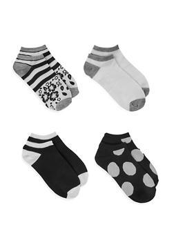 Set of 4 Two Tone Socks - 3143041452119