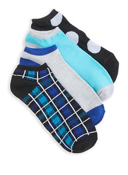 Pack of 4 Assorted Ankle Socks - 3143041452319