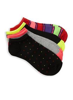 Pack of 4 Ankle Socks - MULTI COLOR - 3143041453018