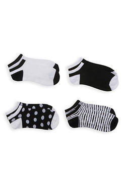 Assorted 4 Pack of Ankle Socks - MULTI COLOR - 3143041458818