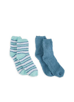 Set of 2 Plush Socks - CHAMBRAY - 3143068060902