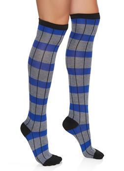 Over the Knee Wide Stripe Socks - 3148041450114