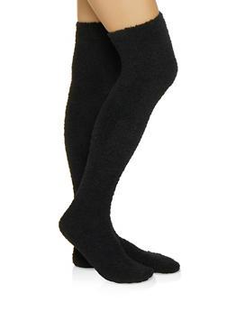 Plush Over the Knee Socks - 3148041451212