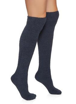 Plush Over the Knee Socks - 3148041458110