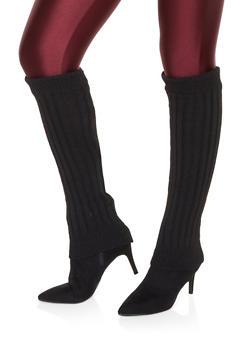 Knit Leg Warmers - BLACK - 3149068063410