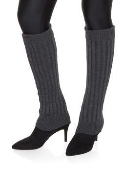 Knit Leg Warmers - CHARCOAL - 3149068063410