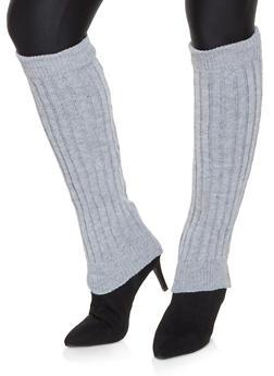 Knit Leg Warmers - GRAY - 3149068063410