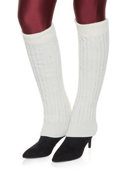 Knit Leg Warmers - WHITE - 3149068063410