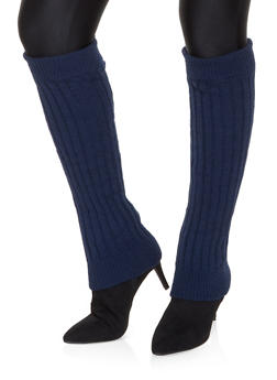 Knit Leg Warmers - NAVY - 3149068063410