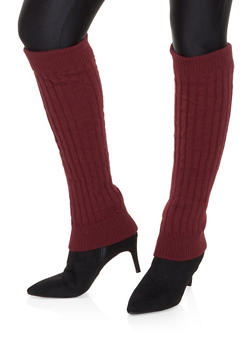 Knit Leg Warmers - WINE - 3149068063410