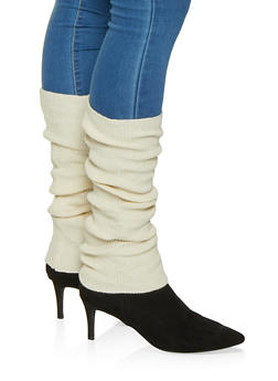 Ribbed Knit Leg Warmers - 3149068064412
