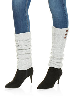 Cable Knit Leg Warmers - HEATHER - 3149068064473