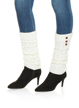 Cable Knit Leg Warmers - IVORY - 3149068064473