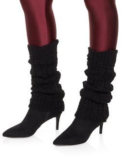 Knit Leg Warmers - BLACK - 3149068065557