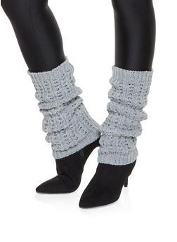 Knit Leg Warmers - GRAY - 3149068065557