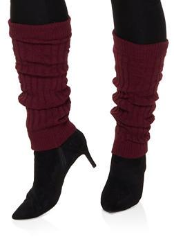 Solid Knit Leg Warmers - 3149068066401