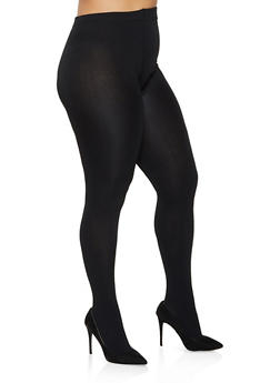 Plus Size Footed Fleece Lined Tights - 3150041450118