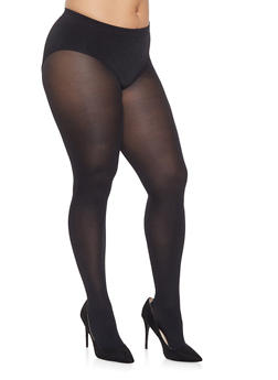 Plus Size Footed Tights - 3150041451119