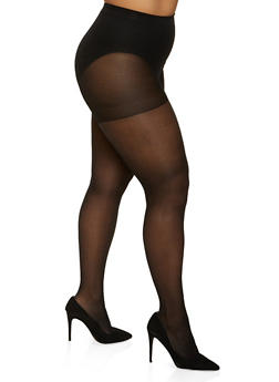 Plus Size Patterned Tights - 3150041459881