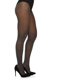 Opaque Colored Tights - GRAY - 3150068064400