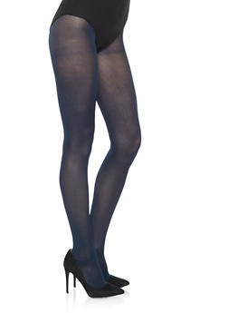 Opaque Colored Tights - NAVY - 3150068064400