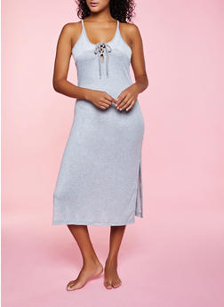 Lace Detail Nightgown - 3151035160116