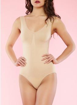 Solid Shapewear Bodysuit - BEIGE - 3151035160810
