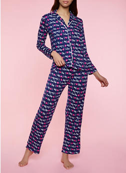 I Love Sleep Pajama Shirt and Pants - 3154052311506