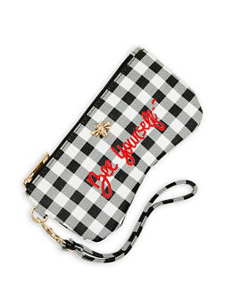 Plaid Sunglasses Pouch - 3163061596059