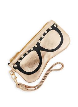 Rhinestone Sunglasses Pouch - 3163061599506