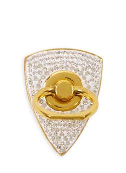 Rhinestone Phone Ring Stand - 3163066410009