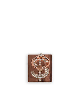 Rhinestone Dollar Sign Phone Ring Stand - 3163066417379