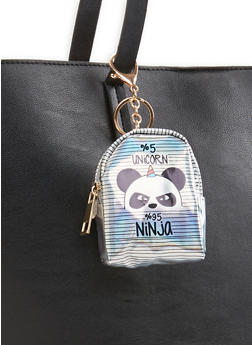 Holographic Panda Backpack Keychain - 3163067441028