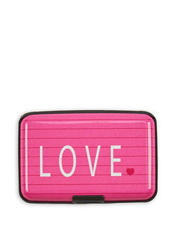 Love Notebook Print Card Wallet - 3163067442183