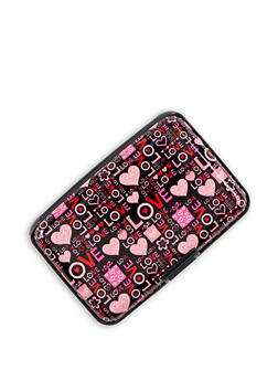 Love Print Card Wallet - 3163067443644