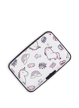Unicorn Print Card Wallet - 3163067444551