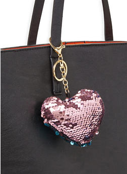 Reversible Sequin Heart Keychain - 3163067447047