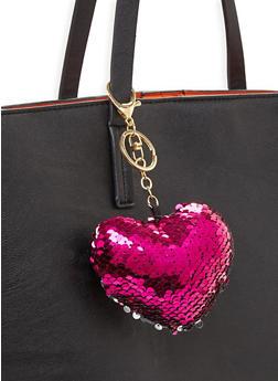 Reversible Sequin Heart Keychain - 3163067447047