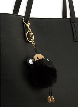 Monkey Pom Pom Keychain - 3163067448004
