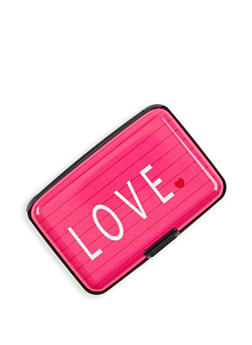 Love Graphic Card Wallet - 3163067449985