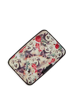 Graphic Print Card Wallet - 3163067449988