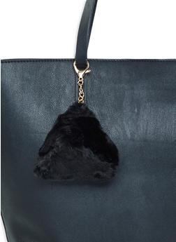 Pyramid Coin Purse Keychain - BLACK - 3163071215011