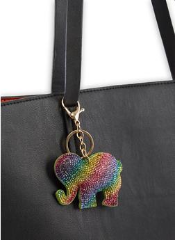 Rhinestone Elephant Keychain - 3163074390585