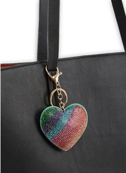 Rhinestone Heart Keychain - 3163074390586