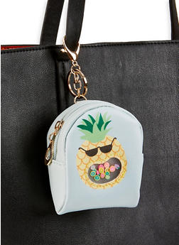 Pineapple Mini Backpack Keychain - 3163074391739
